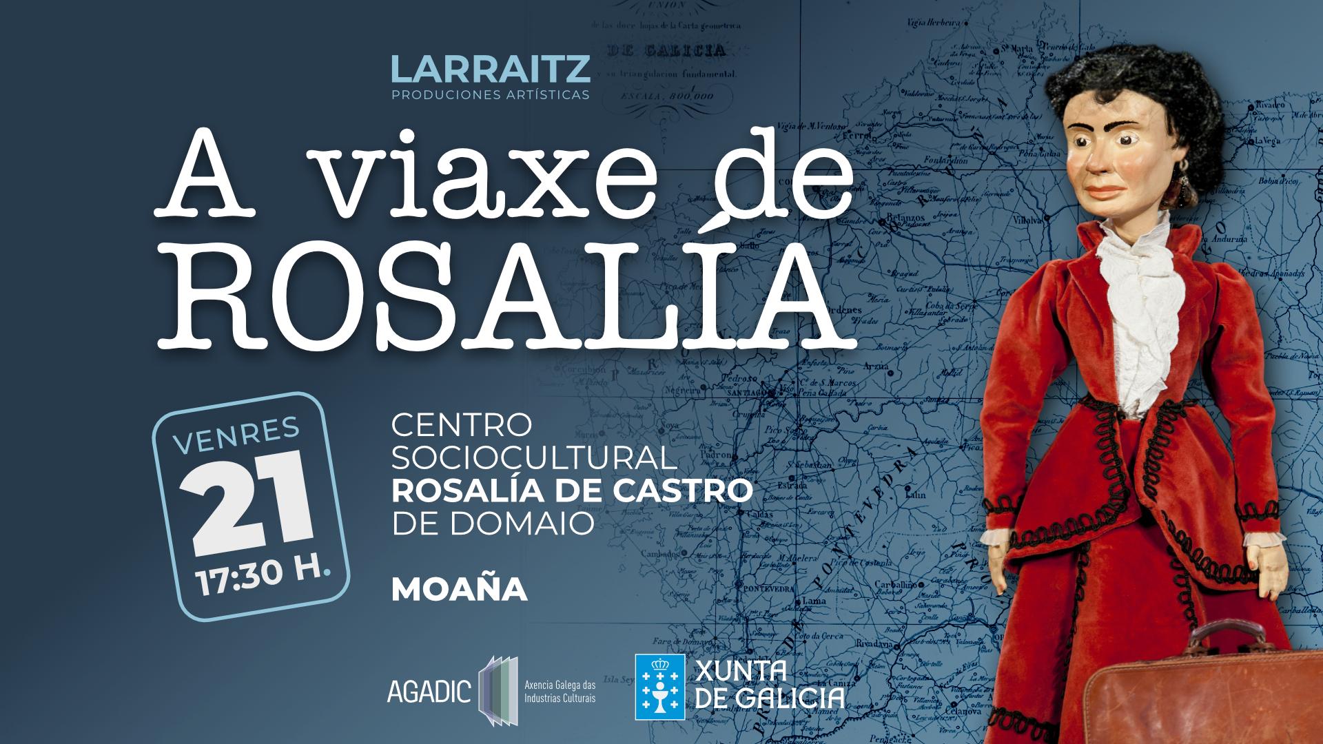 A viaxe de Rosalía en Moaña